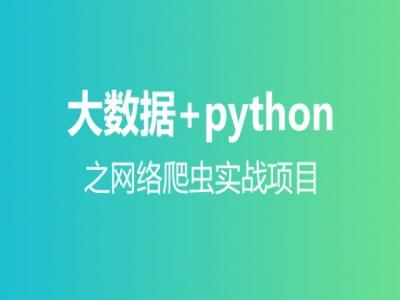 大数据+Python网络爬虫实战项目视频教程
