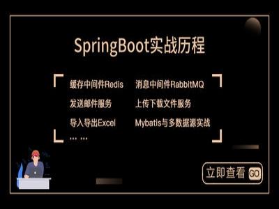 SpringBoot实战历程-从菜鸟到小牛视频课程