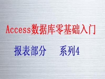 Access数据库零基础入门系列4视频教程